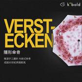 【德國kobold酷波德】抗UV降溫12度-萬花鏡遮陽防曬降溫雙層三折傘-櫻花