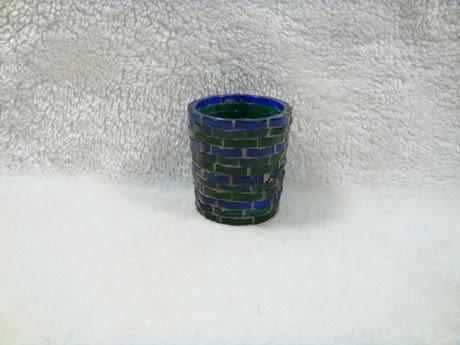 玻璃馬賽克貼片小燭台