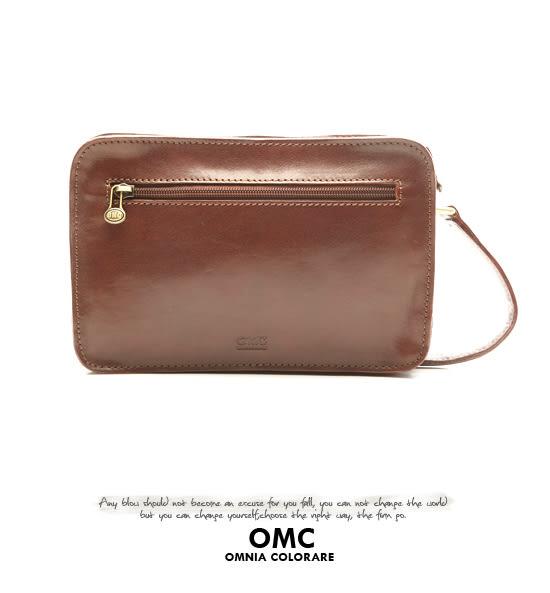 OMC - 原皮魅力款真皮多隔層手拿包
