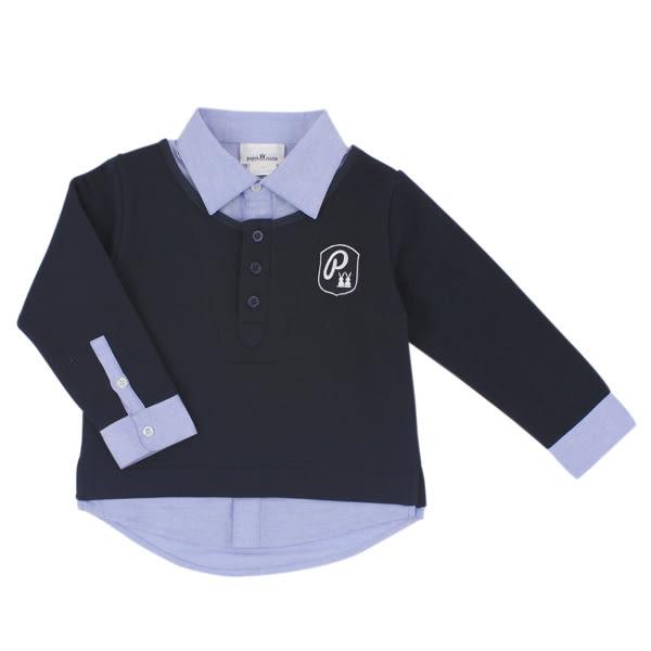 【愛的世界】學院風假二件襯衫/6~12歲-台灣製- ★秋冬上著