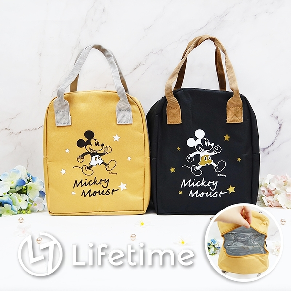 ﹝米奇手提保溫便當袋﹞正版 便當袋 餐袋 手提袋 保溫袋 迪士尼〖LifeTime一生流行館〗