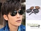 金屬框雷朋款皮革腳架太陽眼鏡。Polarized偏光鏡消除眩光-UV400【os503】*911 SHOP*