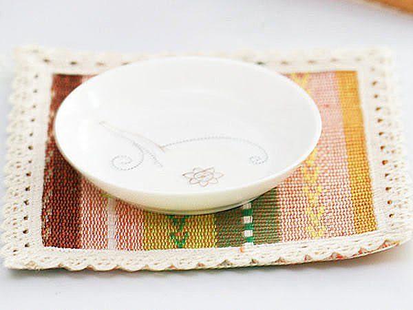 歐式純棉編織正方形隔熱杯墊 隔熱墊 防燙墊 宴客派對 玫瑰 五彩 15cm【SV3323】BO雜貨