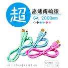 Type-C USB 台灣製造 高速充電傳輸線 水管線 純銅 約200cm (2M) 認證線