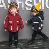 羽絨外套 冬裝短款加厚正韓2-3-4-5歲6寶寶連帽拉鏈防風保暖