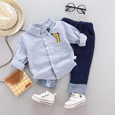 男寶寶秋裝套裝0一1-2-3歲韓版潮三歲男寶寶夏裝套裝2018新款套裝