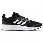 ADIDAS GALAXY 5 男款黑白透氣緩震慢跑鞋-NO.FW5717