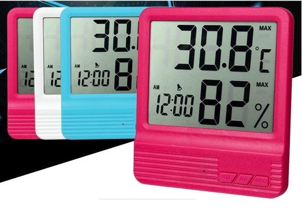 新竹【超人3C】超大字體 三色 除濕機必備電子溫度計溼度計液晶顯示 5000666-3T4