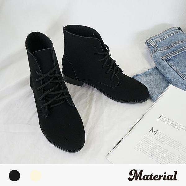 短靴 簡約尖頭綁帶短靴 MA女鞋 T8032