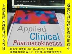 二手書博民逛書店Applied罕見Clinical Pharmacokineti