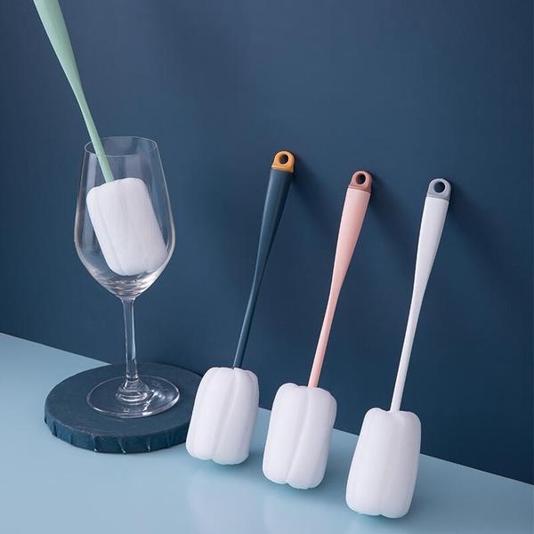 海綿奶瓶刷SG865 長柄刷 海綿清潔刷 家用款 廚房清潔刷 撞色杯刷 奶瓶刷