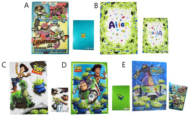 【卡漫城】 玩具總動員 L字型 資料夾 任選三個 ㊣版 Toy Story 三眼怪 巴斯 胡迪 文件夾 檔案夾