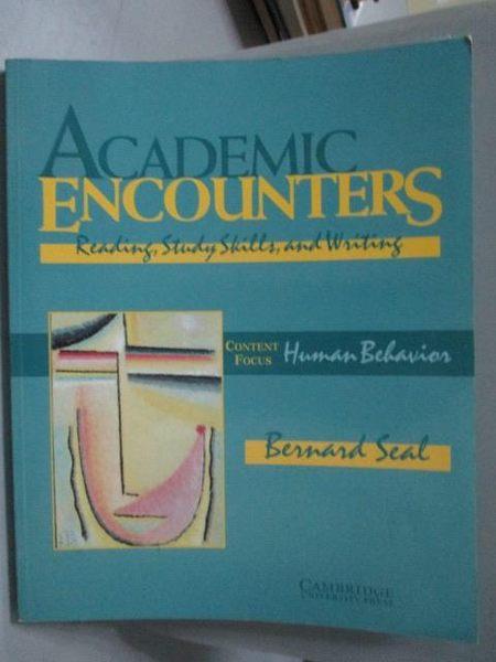 【書寶二手書T3/語言學習_ZEY】Academic Encounters-Reading, Study Skills.