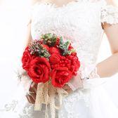 結婚新娘手捧花 韓式仿真花婚禮花束婚慶裝飾用品 創意道具手捧花  居家物語