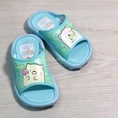《7+1童鞋》角落生物夏日 防潑水 拖鞋 SGKS19036 藍色