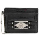 Crystal Ball鉚釘鑽飾亮面證件卡夾(黑色)163001