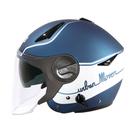 【東門城】ZEUS ZS612A AD1(消光寶藍/白) 半罩式安全帽 雙鏡片