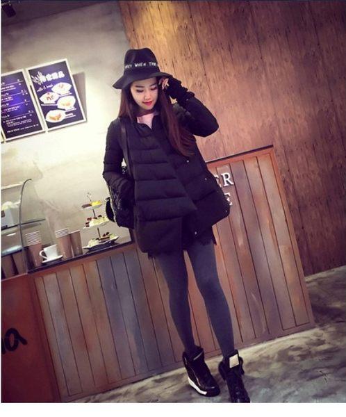 【現貨超值價】外套 個性時尚剪裁防風保暖羽絨外套(黑色 L) WF804638 (購潮8)