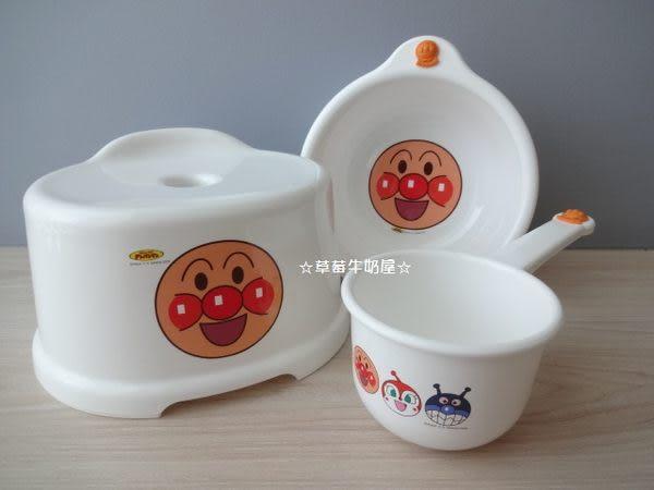 ☆草莓牛奶屋☆日本進口【Anpanman麵包超人】椅子/臉盆/水瓢三件組