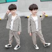 男童春款西裝套裝2020新款小兒童西服禮服兩件套男孩花童表演服潮(快速出貨)