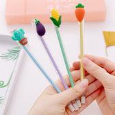 【BlueCat】小清新透明筆管蔬菜仙人掌中性筆