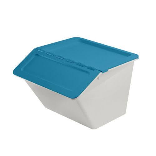 【nicegoods】小河馬可疊式收納箱22L(整理箱 收納箱 掀蓋 儲物 樹德)