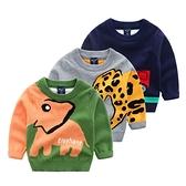 *╮小衣衫S13╭*兒童秋冬款可愛圖案長袖針織毛衣1081012