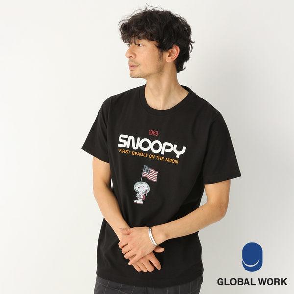 GLOBAL WORK男PEANUTS聯名款史努比短袖T恤上衣-二色