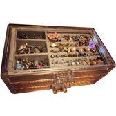 首飾盒公主歐式韓國手飾品首飾收納盒透明塑料耳環耳釘發首飾盒子  無糖工作室