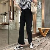 高腰百搭休閒微喇叭褲女2021年夏季新款寬管褲垂感顯瘦九分西裝褲 「雙10特惠」