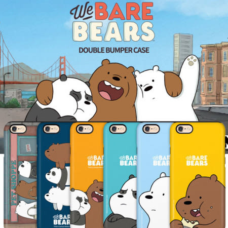 We Bare Bears 熊熊遇見你 雙層防摔 手機殼│iPhone 6 6S 7 8 Plus X XS MAX XR S7 Edge S8 S9 Note5 Note8 Note9│z7680