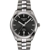 TISSOT 天梭 PR100 鈦金屬 經典石英手錶-灰/39mm T1014104406100