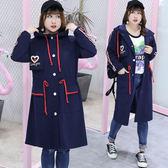 中大尺碼~包邊韓版連帽風衣外套(XL~4XL)