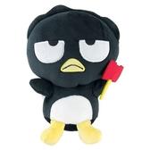 小禮堂 酷企鵝 沙包玩偶 絨毛 娃娃 布偶 玩具 (S 黑 頑皮海豹) 4549466-06153
