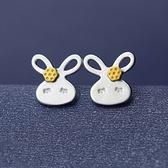 925純銀耳環(耳針式)-可愛小兔子生日情人節禮物女飾品73ag334[巴黎精品]