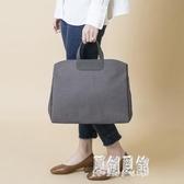 韓版公文包單肩斜挎書袋文件袋氣質時尚A4資料袋手提女文件包xy3844【原創風館】