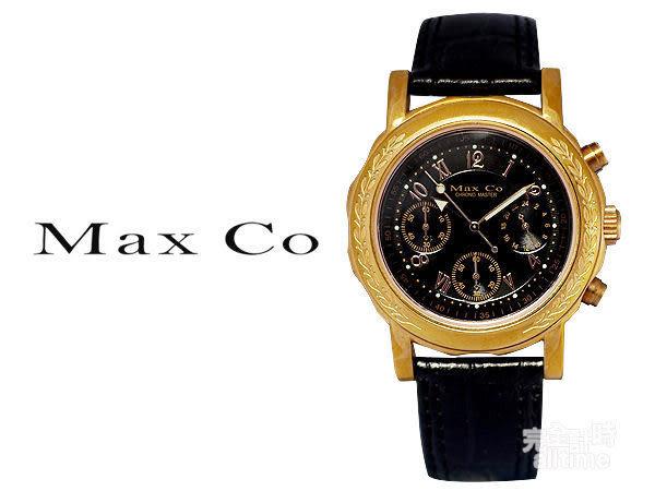 【完全計時】手錶館│Max Co 風華雅典 時尚玫瑰金多功能腕錶 MAS318