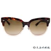 GUCCI 墨鏡 GG3762FS XDCJ6 (花紋棕-透棕) 雙色鏡框 貓眼 太陽眼鏡 久必大眼鏡