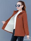 棉衣外套 冬裝新款羊羔絨中年媽媽短款大碼休閑韓版加絨加厚棉衣外套女 新年禮物