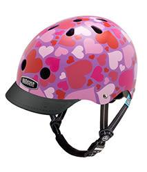 美國 Nutcase 彩繪安全帽-兒童系列-紫紅愛心  (頭圍48-52公分)