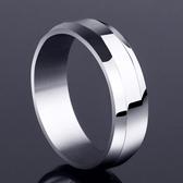 銀色男士戒指韓版個性鈦鋼戒指環 ☸mousika