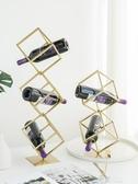 紅酒架擺件歐式客廳家用葡萄酒收納架酒吧KTV鐵藝酒瓶架格子 YXS交換禮物
