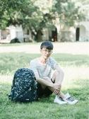 伊人閣 背包男士後背包時尚韓版休閒旅行包大學高中生初中學生書包男