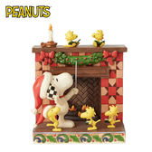 【正版授權】Enesco 史努比 聖誕壁爐 塑像 公仔 精品雕塑 Snoopy PEANUTS - 138678