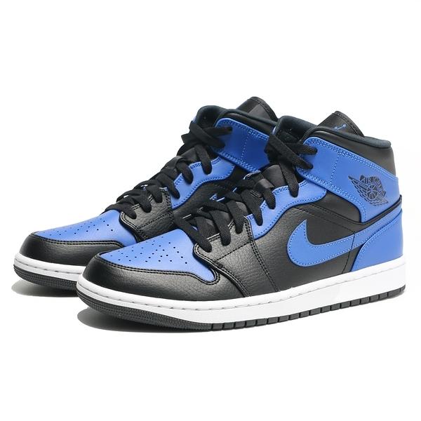 NIKE 籃球鞋 AIR JORDAN 1 AJ1 HYPER ROYAL 皇家藍 黑藍 喬丹 AJ1 男 (布魯克林) 554724-077