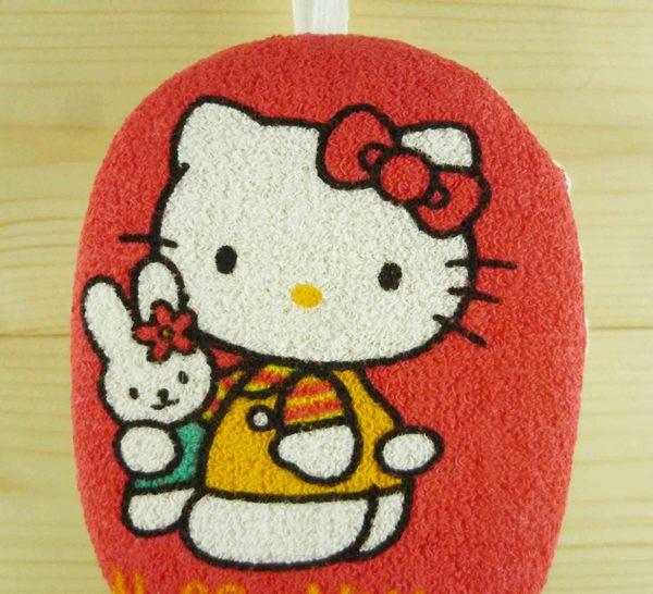 【震撼精品百貨】Hello Kitty 凱蒂貓~沐浴海綿-紅兔子【共1款】