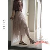 網紗半身裙 不規則疊層/甜味少女系/有點仙 蛋糕網紗蓬蓬半身長裙i7 LW1197