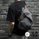 復古帆布單肩斜挎包胸包簡約旅行斜背包【君來家選】