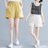 適合胯大腿根粗的褲子夏季棉麻寬鬆胖MM100公斤休閒闊腿褲文藝短褲