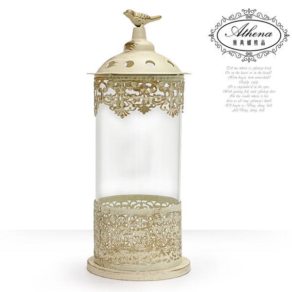 【雅典娜家飾】仿古透明鳥之屋燭台-GN28
